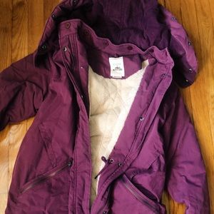 NUMPH x Urban Outfitters Burgundy Parka